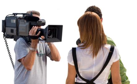 Filming a clip