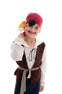 Acting Pirate boy